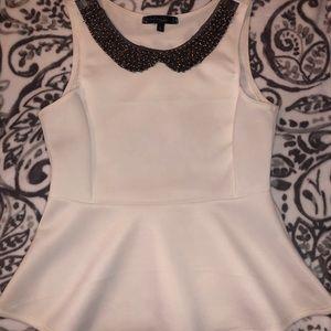 Beaded White Dress Shirt